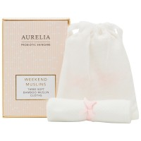 Aurelia Probiotic Skincare 3 Soft Bamboo Muslins Cloths Set