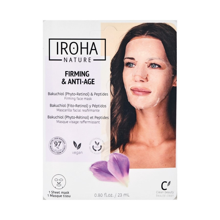 Iroha Tissue Face Mask Firming & Anti-age Bakuchiol and Peptides