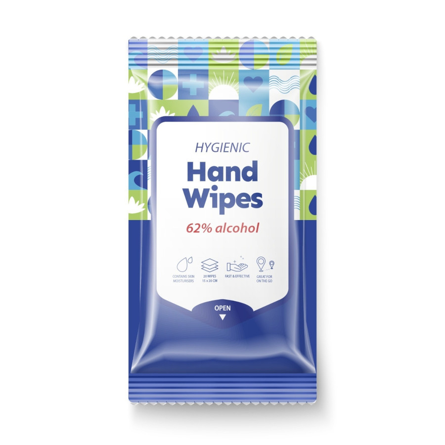 Stay Safe Hygienic Hand Wipes 62%