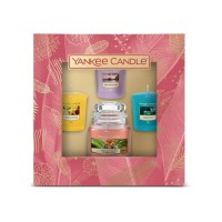 Yankee Candle Gift Box 3 Candles Votive & 1 Small Jar Candle