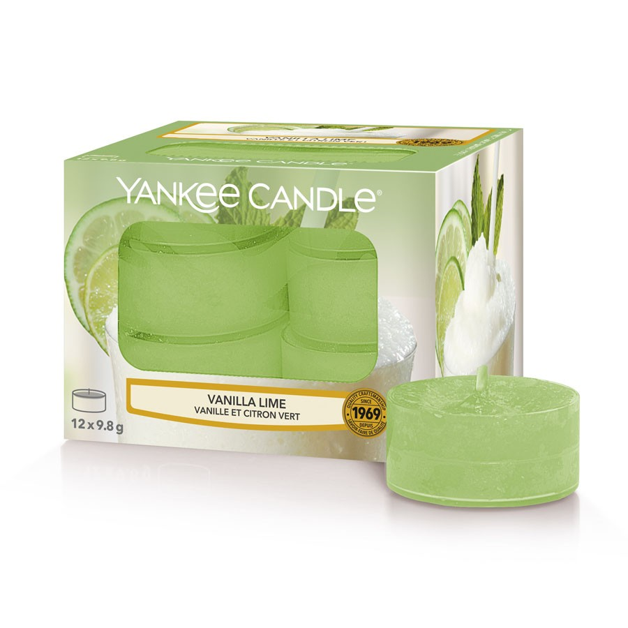 Yankee Candle Set 12 Scented Candles Vanilla Lime