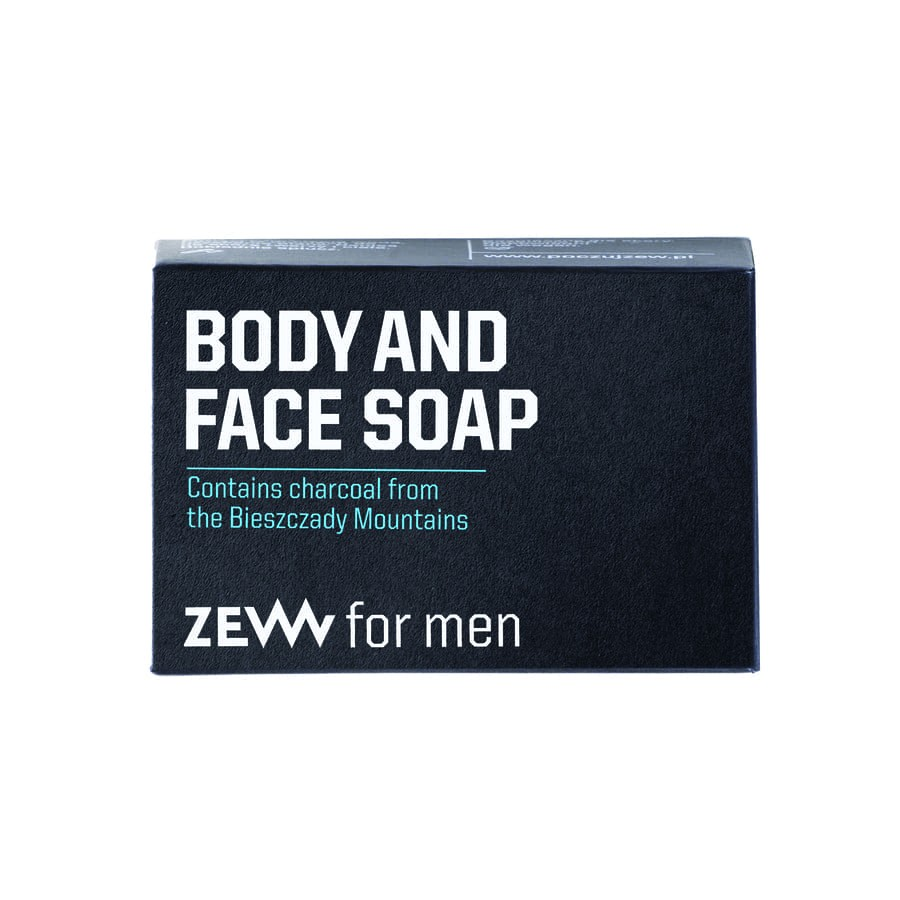 Zew for men Body and Face SoapwithCharcoal