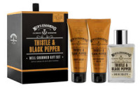 Scottish Fine Soaps Men's Grooming Thistle&Black Pepper Well Groomed GiftSet