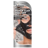 7th Heaven Charcoal Black Clay Peel Off Mask Men