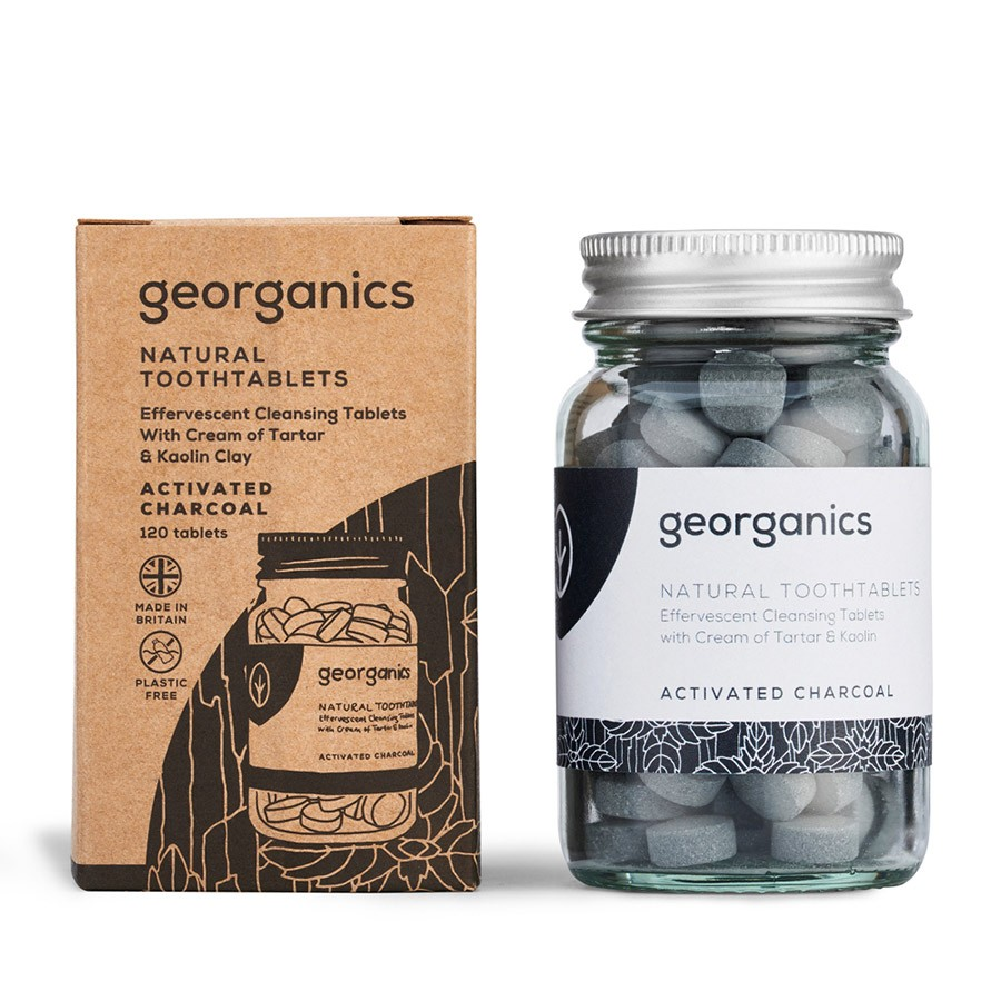 Georganics Toothpaste Tablets Activated Charcoal