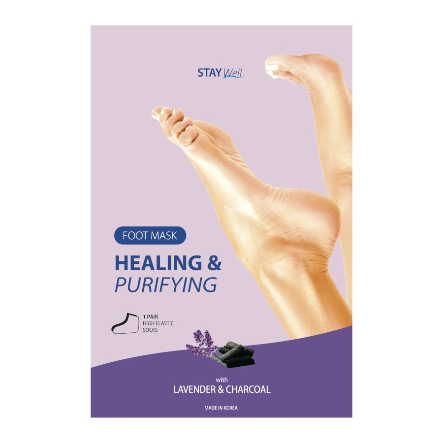 Stay Well Purifying Foot Mask Charcoal