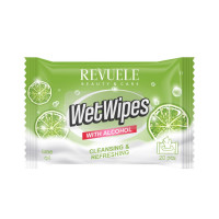 Revuele Wet Wipes with Alcohol & Lime