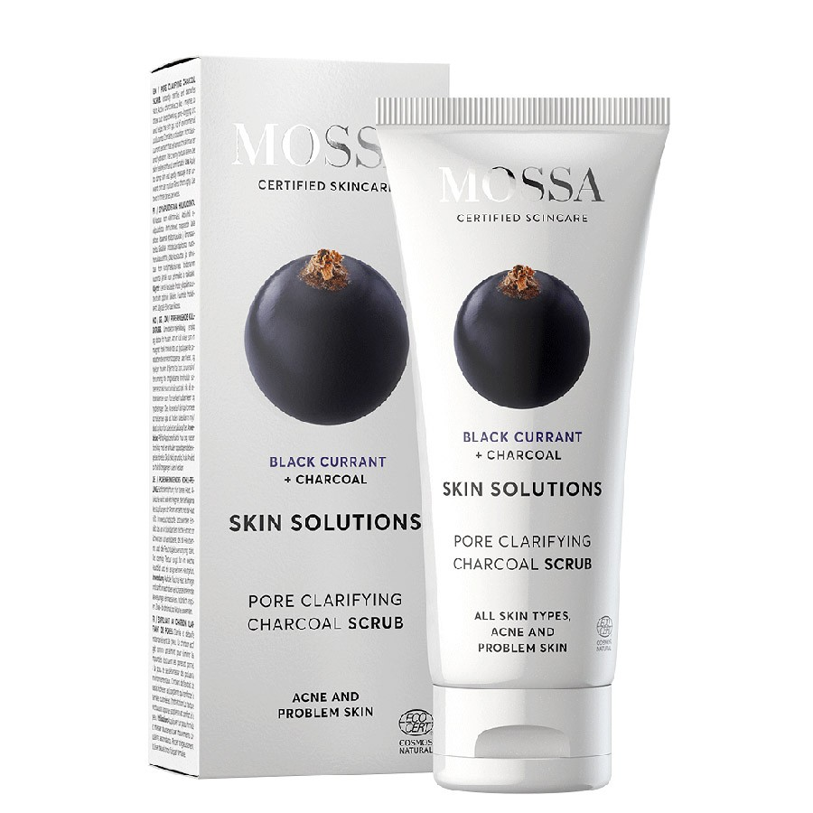 Mossa Face Scrub With Black Currant + Charcoal