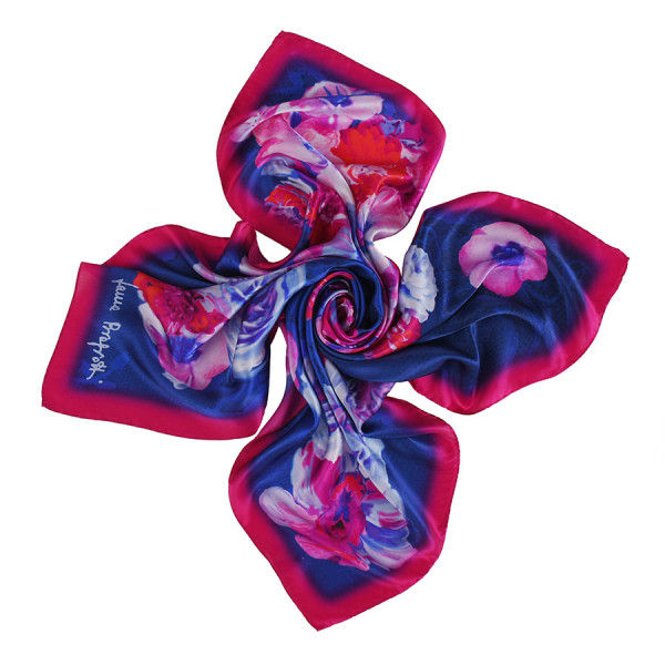 Tie-Me-Up Laura Biagiotti Falling Rose Azure Scarf