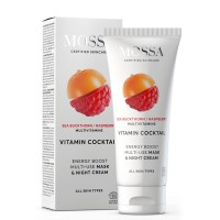 Mossa Night Cream With Sea Buckthorn/Raspberry Multivitamins