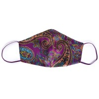 Tie-Me-Up Masca Matase Premium Barbati Paisley Purple