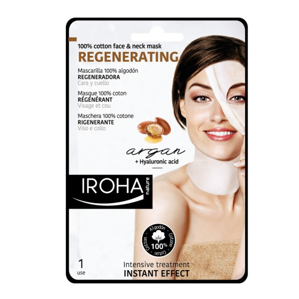 Iroha Cotton Face &Neck MaskArgan-Regeneration