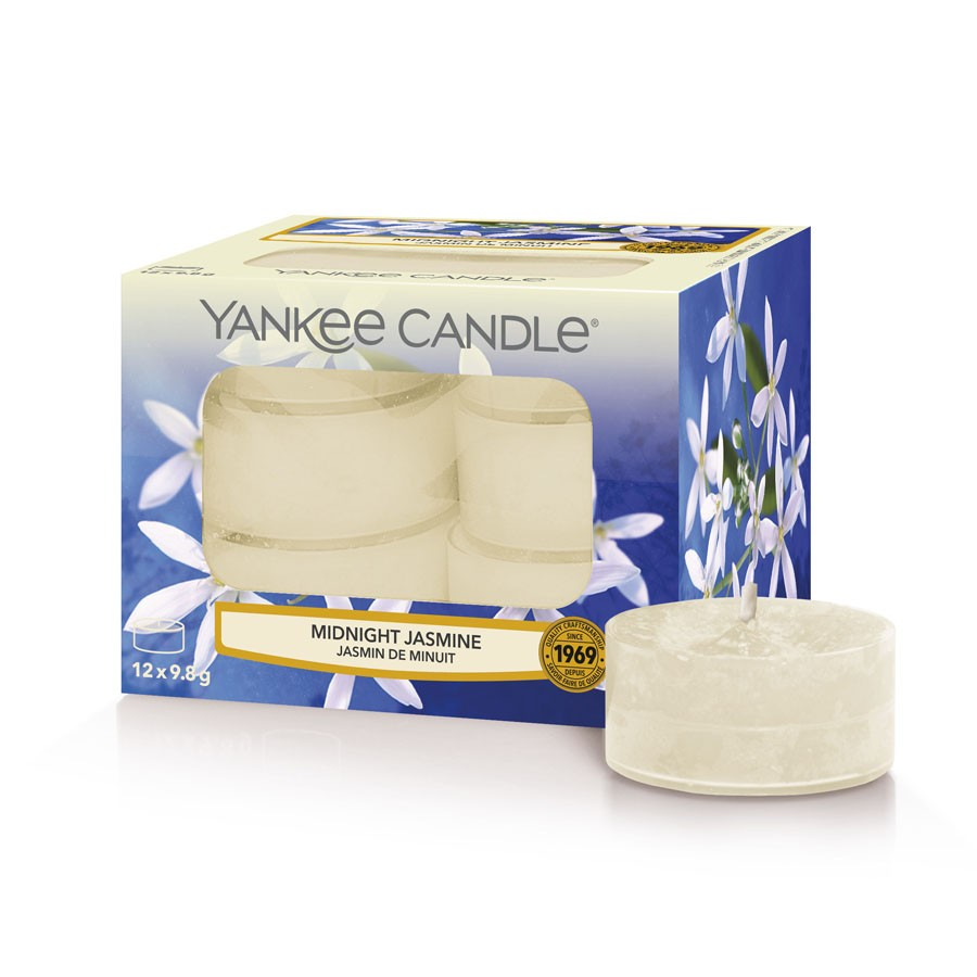 Yankee Candle Set 12 Scented Candles Midnight Jasmine
