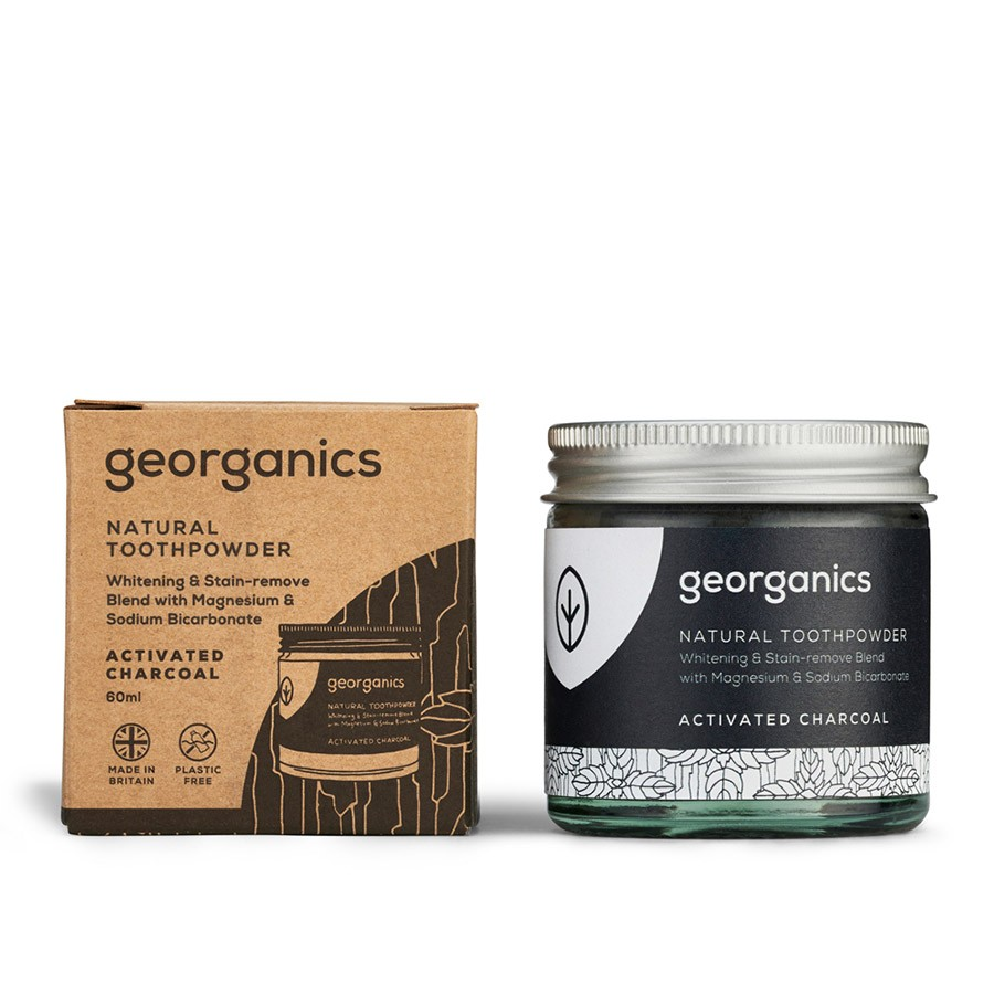 Georganics Natural Toothpaste Powder Activated Charcoal