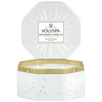 Voluspa Octagon Tin Candle Bourbon Vanille