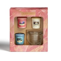 Yankee Candle Gift Box 3 Candles Votive & Holder
