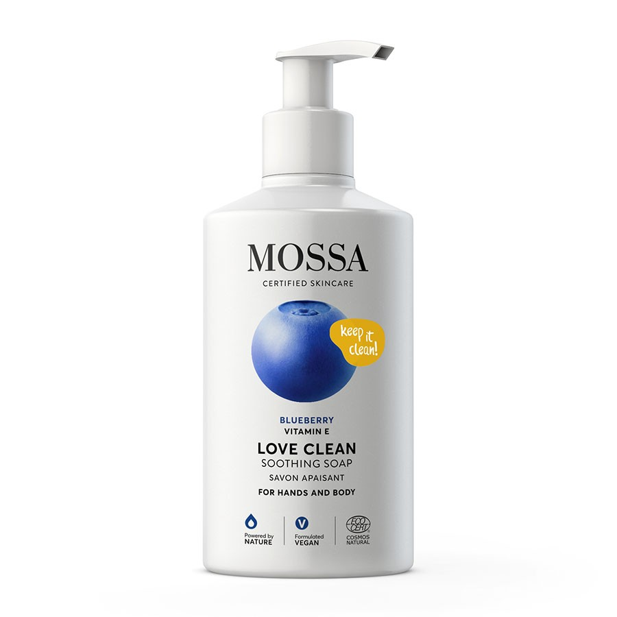 Mossa Hands And Body Soap With Blueberry And Vitamina E