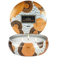 Voluspa 3 Wick Tin Candle Spiced Pumpkin Latte