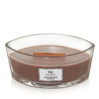 WoodWick Candle Ellipse Stone Washed Suede