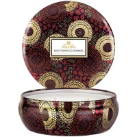 Voluspa 3 Wick Tin Candle Goji Tarocco Orange