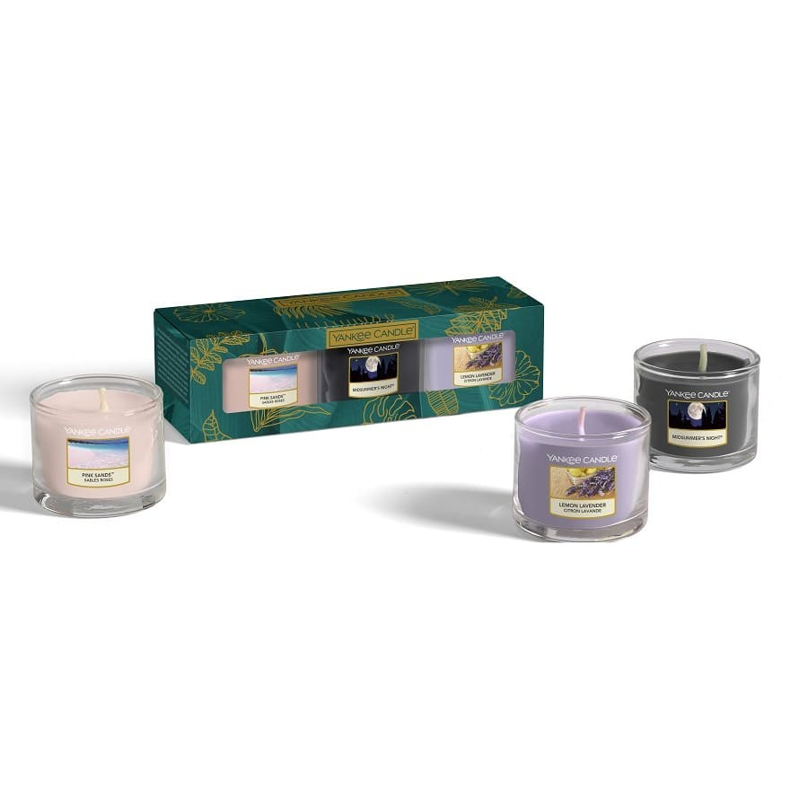 Yankee Candle Gift Box 3 Candles Votive Glass