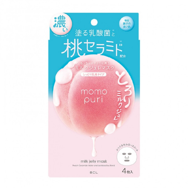 Momopuri Milk Jelly 4 Masks Set