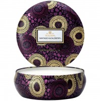 Voluspa 3 Wick Tin Candle Santiago Huckleberry