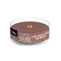 WoodWick Petite Candle Stone Washed Suede