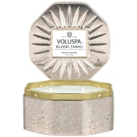 Voluspa Octagon Tin Candle Blond Tabac