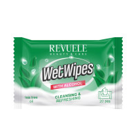 Revuele Wet Wipes with Alcohol & Tea Tree