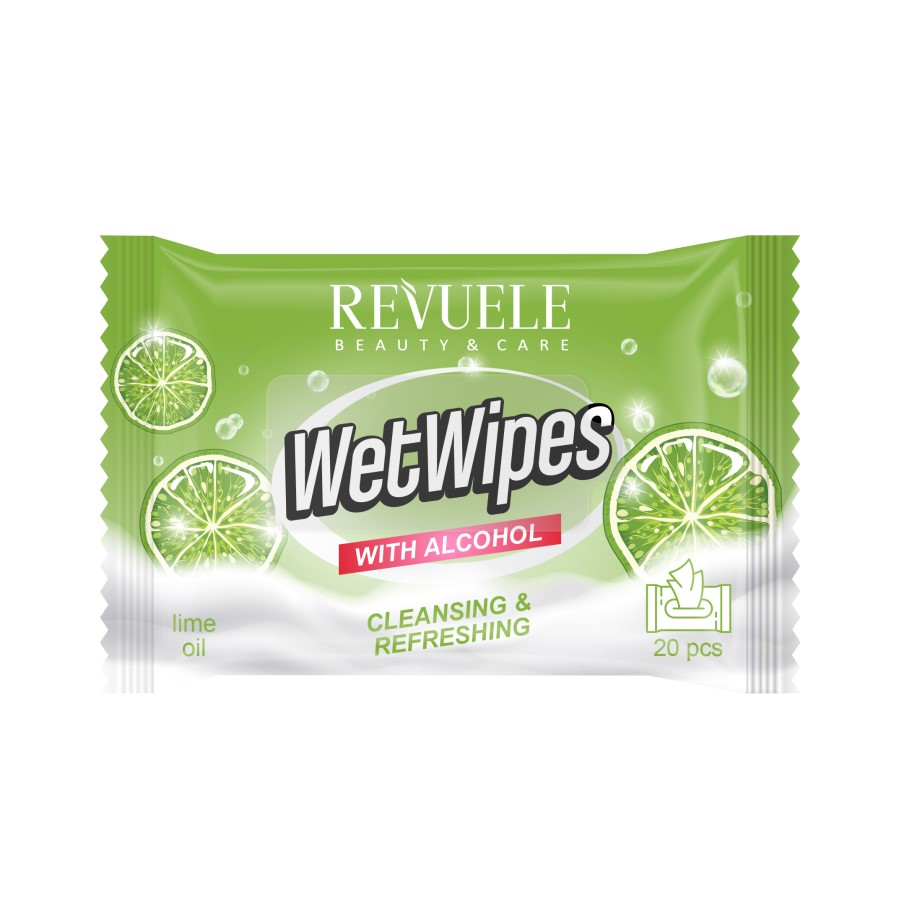 Revuele Wet Wipes Alcohol + Lime3184