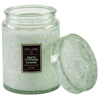 Voluspa Large Jar Candle White Cypress