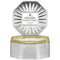 Voluspa Octagon Tin Candle Branche Vermeil