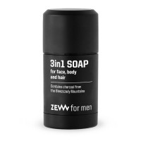 Zew for men 3 IN 1 Soap with Charcoal